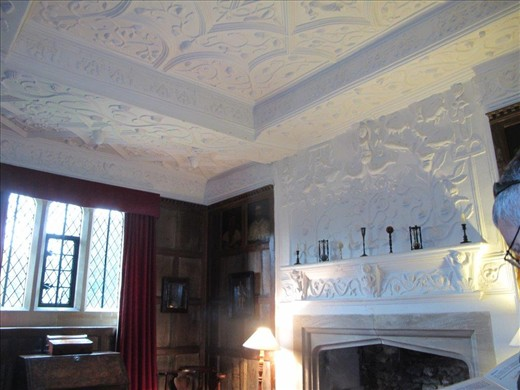 Gorgeous ceiling plaster, about 400 years old, Westwood Manor