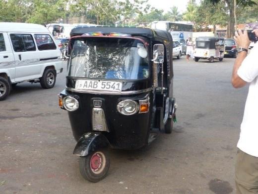 Souped-up three-wheeler cab in Colombo, Sri Lanka