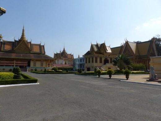 The royal palace courtyard, Phnom Penh