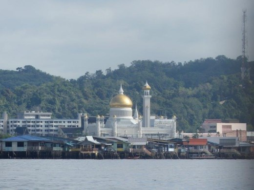 One of the less modest homes, Muara, Brunei