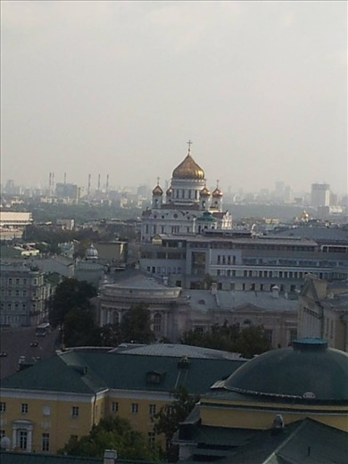View of Moscow from terrace of Ritz Carlton
