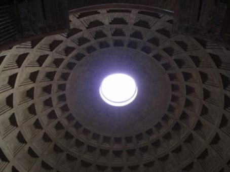 Natural hole in the roof of the Pantheon