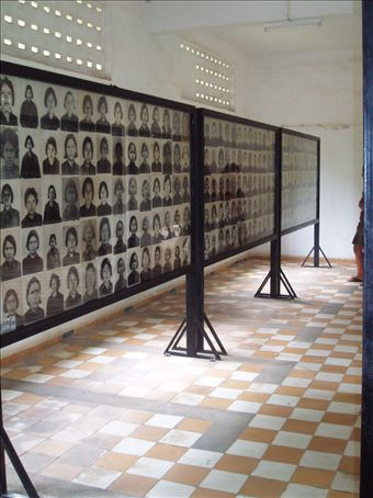 S21 Prison - Photo Displays of the Victims
