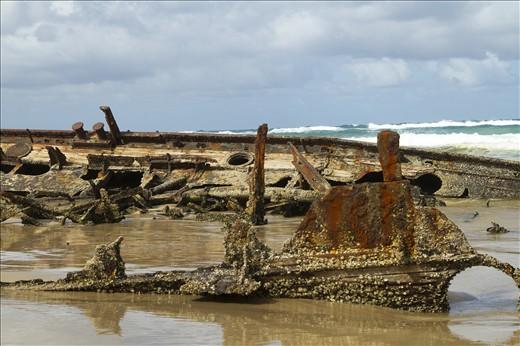 SS Maheno ship wreck on Fraser Island