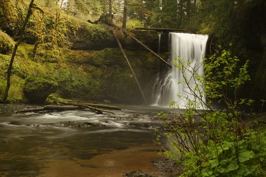 One of the impressive waterfalls at the Silverfalls state park -Upper North falls, Oregon
