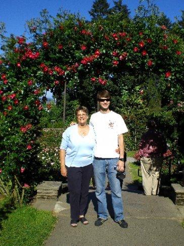 Bobbie & Elliott at the Rose Garden