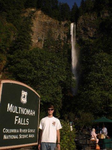 Elliott at Multnomah Falls