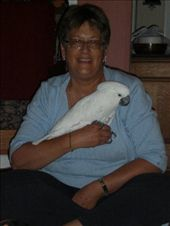 Bobbie holding Kela, our 'foster' cockatoo: by annanderson, Views[357]