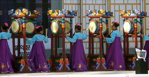 girl's drumming