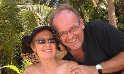 Chuck & I on the beach