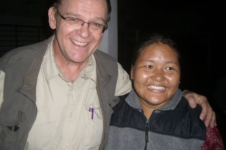 Chuck & Tibetan manager, Kalsang Dolma