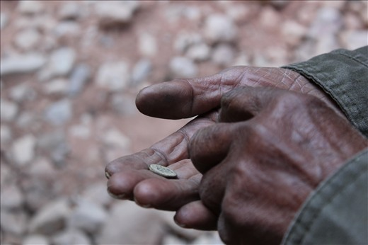Our guide told us that this man was one of the last remaining residents of Petra.  His aged hands held an old coin from Petra that he sold to one of our group members.