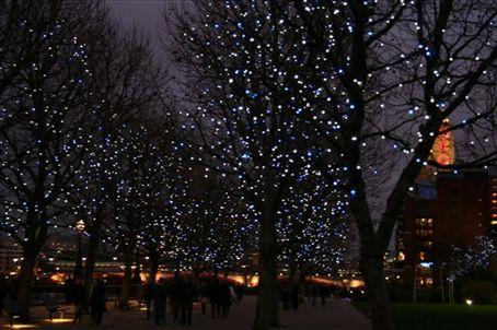 Christmas Lights along the river