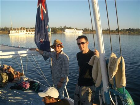 Will and Simon on the Felucca
