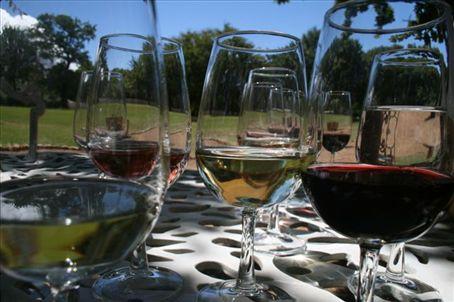 wine tasting in Stellenbosch..