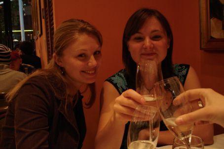 Abi's birthday - celebrating in true lady-like style with sparkling wine