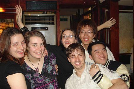 St Patrick's Day @ O'Briens - Moi, Jill, Tom, Dawn, Im and Kim