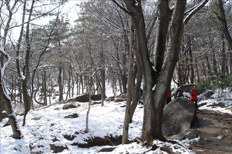 Mt. Geumjeong - from sunshine at the bottom to snow at the top, cool!