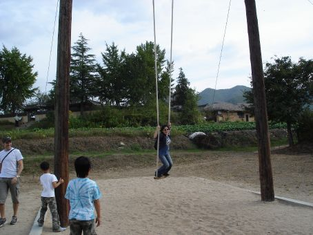 Traditional playtime at Hahoe Folk Village