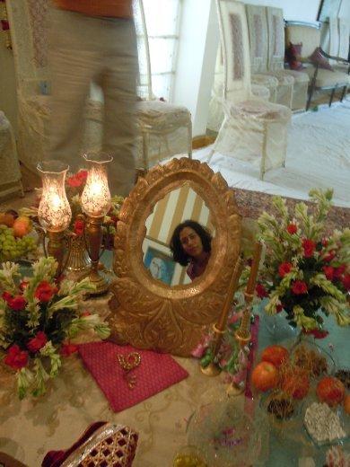 ..peaking through the mirror....