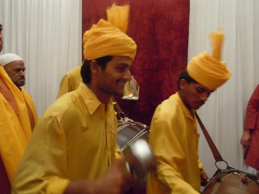 drummers in yellow