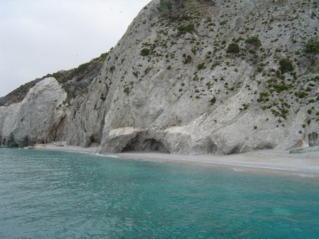 Lalaria Beach - very famous for its bleach white pebbles and blue water