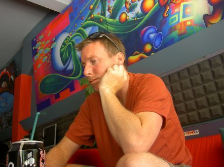 One of my other routines -- checking email and blogging at the internet cafe