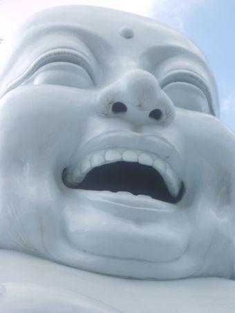 the huge laughing budha near dalat in vietnam