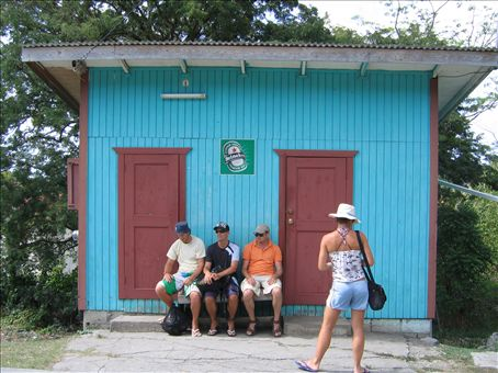 Waiting for the Reggae Bus at Carriacou.