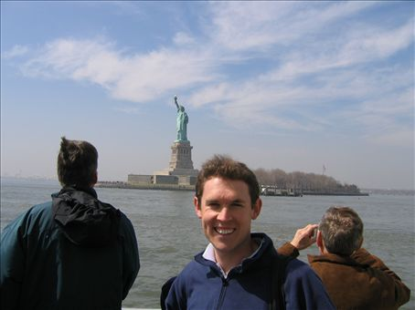 Cruising around the Statue of Liberty. You can actually walk around the base of it if you wait three hours in a line going nowhere.