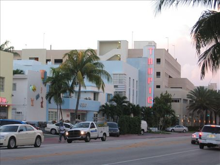 My hostel in Miami - right in the Mayor's Office on Collins Avenue, South Beach.