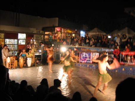 Traditional dancing in Santiago.