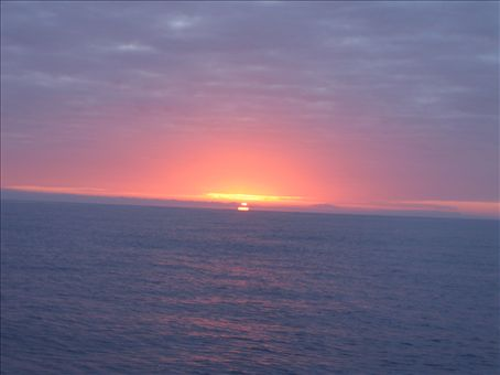 The sun sets on the calm seas...if only they were always like that!