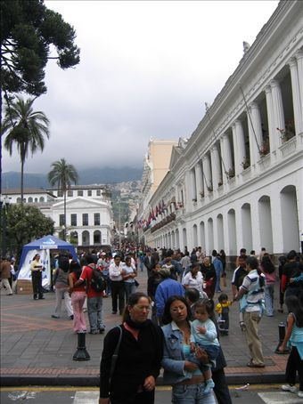 The old town in Quito bringing out some of its very best architecture.