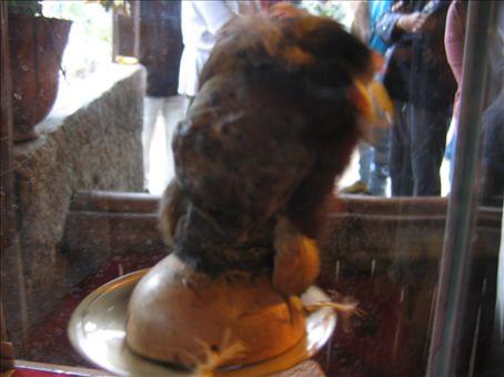 This is a shrunken head from a traditional Ecuadorian tribe - very random.