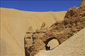 Sand has been blown by the wind which carves out deep depressions in the surface rocks.: by arcreations, Views[172]