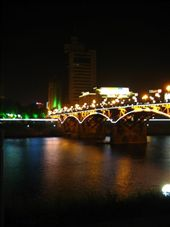 Bridge from city centre by night.: by arendse_worldnomad, Views[109]