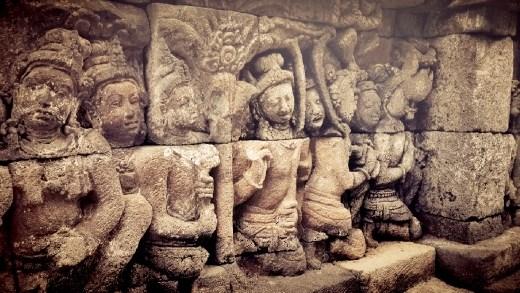 Part of artifacts in Borobudur Temple