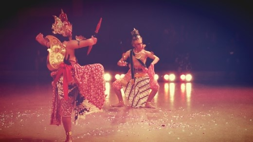 The scene when Rama fight with Rahwana