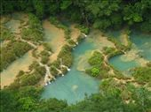 Semuc Champy, 300m limestone bridge over the river, very good for swimming.: by ash-clarey, Views[250]