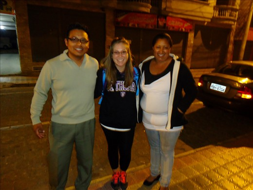 With Segundo Guerreo and his wife who picked me up from the airport