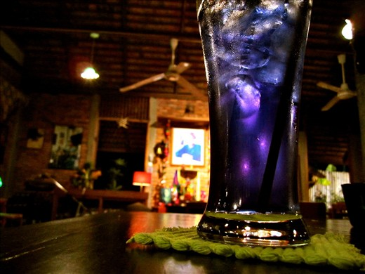 Wash it all down with a butterfly pea flower drink.