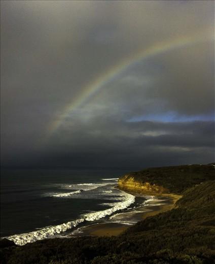 Surfer's Rainbow. Bell's Beach. The host beach of the RipCurl comp.