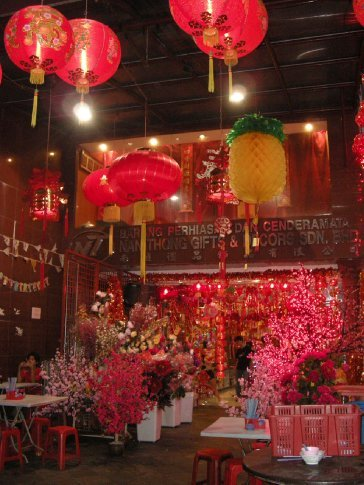 in un tempio a Chinatown