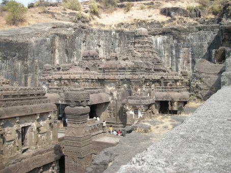 kailasa temple, vista dall'alto