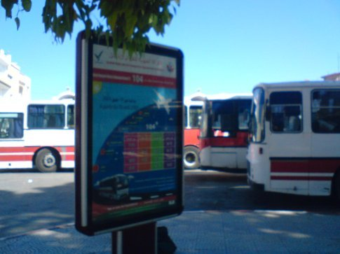 Bus terminal, Nabuel (I was waiting round, but was impressed by the bus frequency and efficiency of service)