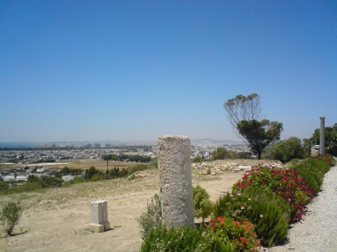 The vista from the back of the Byrsa Hill Museum, Carthage