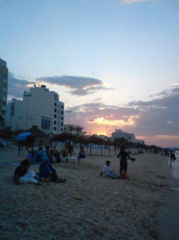 Beautiful peaceful evening at Sousse