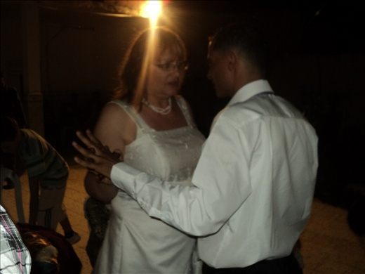 Fateh and me dancing at the grande fete, our wedding reception