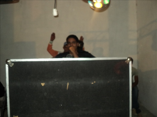 The DJ at the wedding party